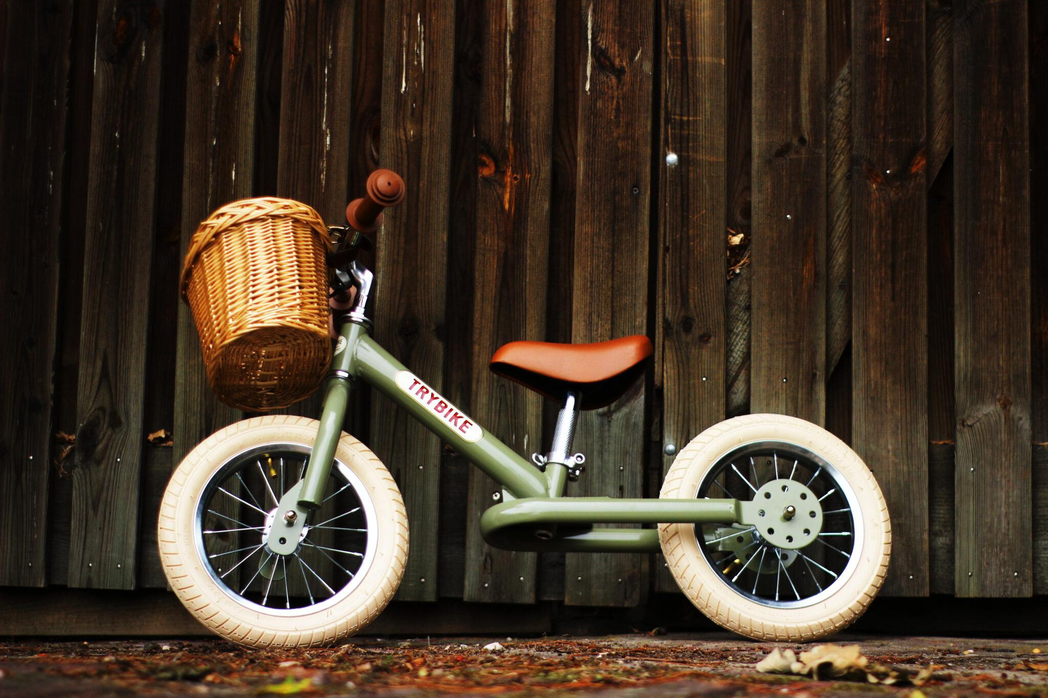trybike 2 hjul grøn