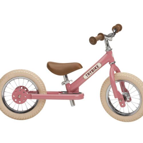 trybike 2 hjul lyserød